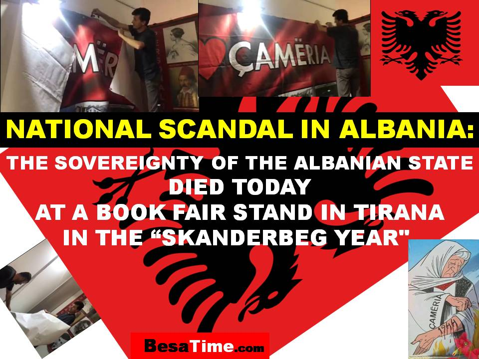 "NATIONAL SCANDAL IN ALBANIA (video): THE SOVEREIGNTY OF THE ALBANIAN STATE DIED TODAY, AT A BOOK FAIR STAND IN TIRANA, IN THE ""SKANDERBEG YEAR"