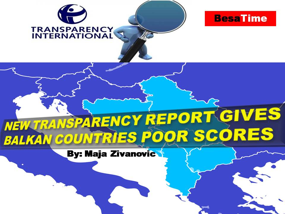 NEW TRANSPARENCY REPORT GIVES BALKAN COUNTRIES POOR SCORES : Maja Zivanovic
