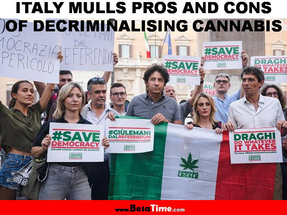 ITALY MULLS PROS AND CONS OF DECRIMINALISING CANNABIS